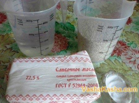 ингредиенты для каши