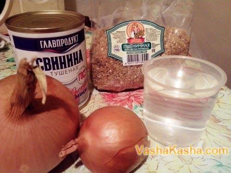ингредиенты для каши на столе