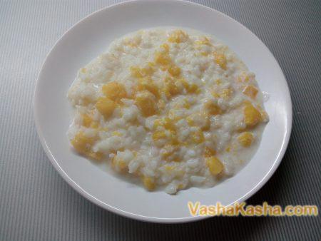 готовая рисово-тыквенная каша