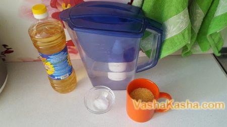 перловка вода подсолнечное масло