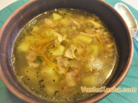 Суп из гречки с курицей