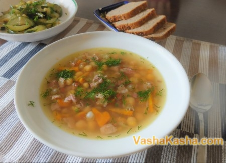 Вкусный суп из нута