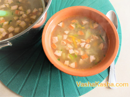 Как варить суп с гречкой
