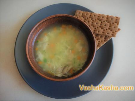 Простой суп с вермишелью