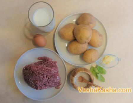 Вкусная картофельная запеканка с фаршем в духовке