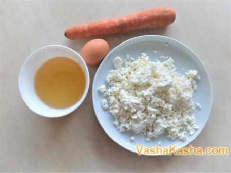 Рецепт творожной запеканки с морковью в духовке