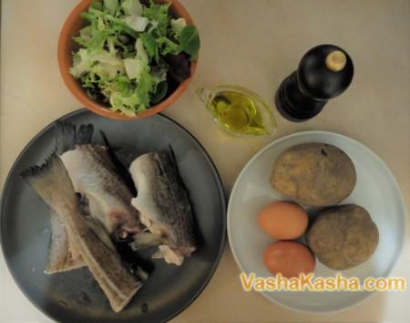Салат с картошкой и треской
