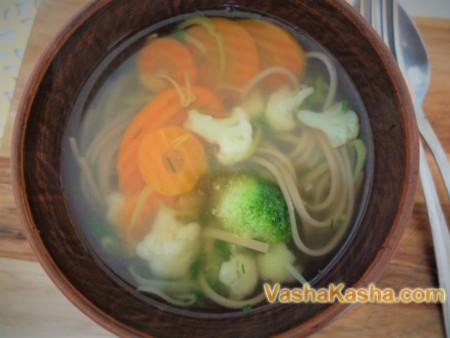 Суп с гречневой лапшой