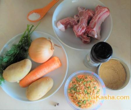 Гороховый суп домашний