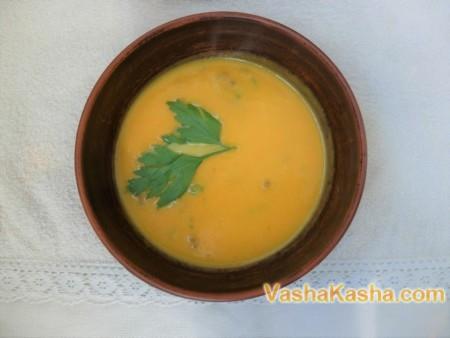 Тыквенный суп мясной