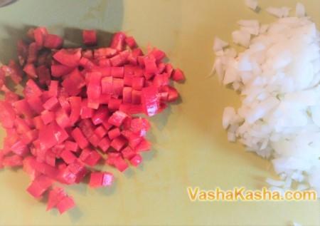 Красная чечевица с томатами