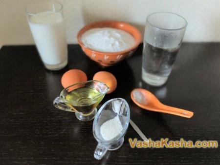 ПП блины из рисовой муки на молоке