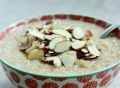 Millet porridge on milk