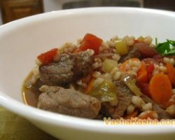 How to cook in a multicooker pearl barley with beef