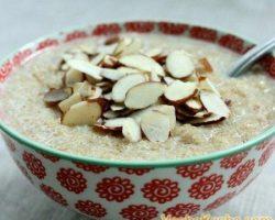 Cooking millet porridge with milk