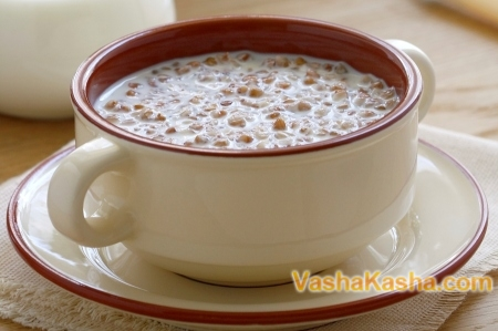 Buckwheat cereal recipe for breakfast with milk