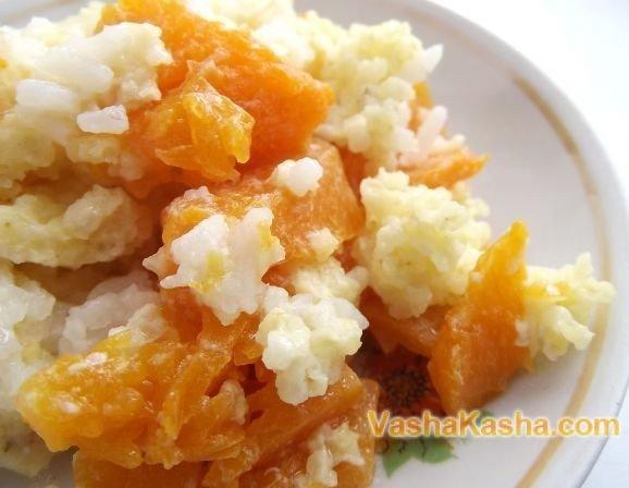 тыквенная каша с пшеном и рисом в мультиварке рецепт