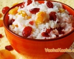How to cook rice on water with cranberries