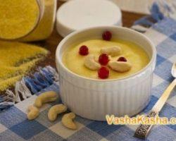 Recipe for Milk Corn Porridge for Kids