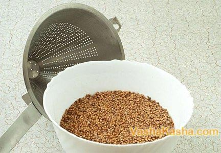 Washed buckwheat