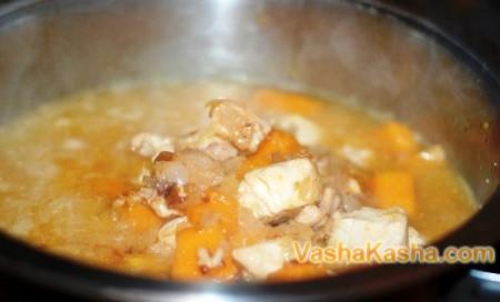 каша с добавленым мясом