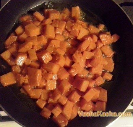 pumpkin pieces with sugar