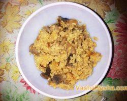 The recipe for millet porridge with mushrooms