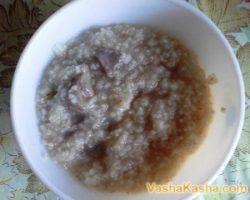 The recipe of barley porridge with beef
