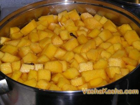 pumpkin slices in a pan