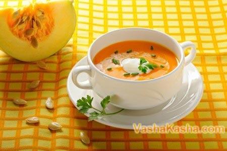 готовий тыквенный крем суп