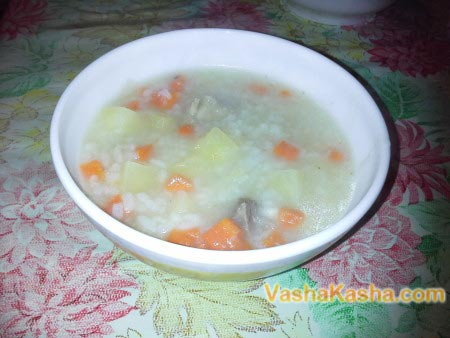 prepared rice soup