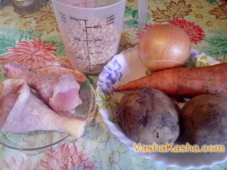 ингредиенты для супа с курицей