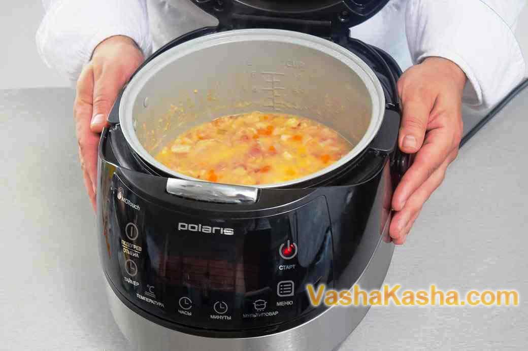 Суп куриный в мультиварке поларис пошагово в