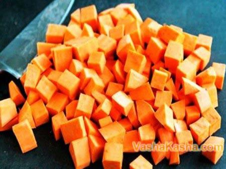 тыква нарезанная кубиками