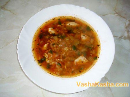 готовый гречневый суп