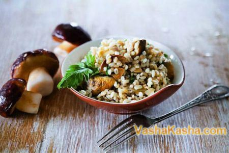 The recipe for lean barley porridge