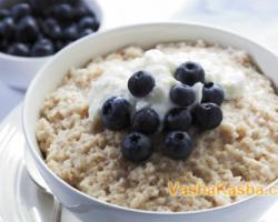 The recipe for oatmeal-rice porridge