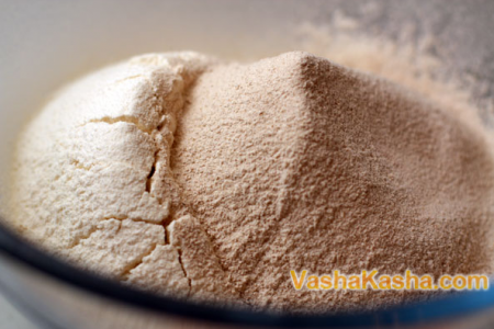 buckwheat and wheat flour