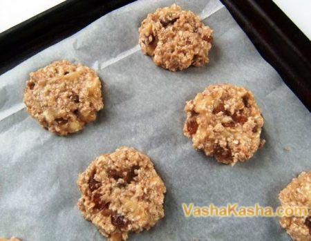baking cookies on a baking sheet