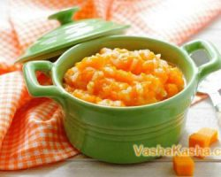 How to cook pumpkin porridge for nursing mothers