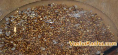 buckwheat in warm water