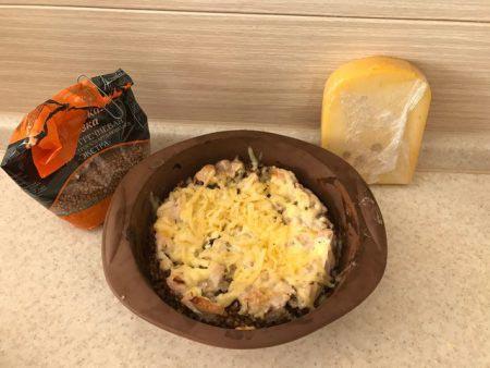 блюдо с твердым сыром