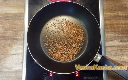 buckwheat in a dry pan