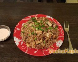 How to cook buckwheat in a merchant with pork