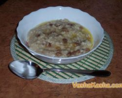 Recipe for cooking oatmeal porridge on water