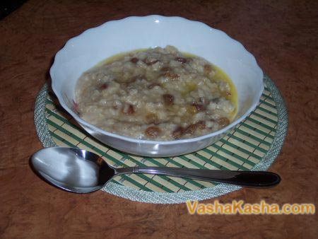 ready porridge on the table