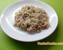 Recipe for crumbly pearl barley porridge