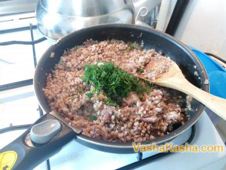 buckwheat with greens