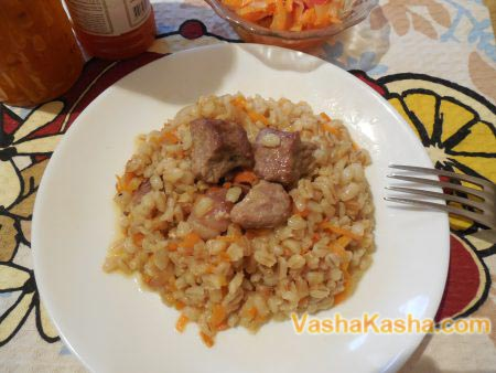 каша перловая с мясом рецепт приготовления
