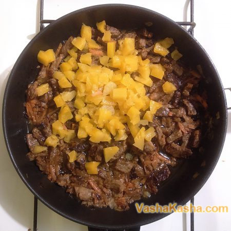 pineapple in the pan